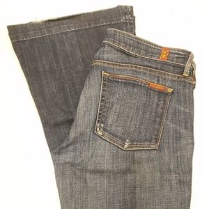 7 For All Mankind Skinny Flare Jeans Sz 27